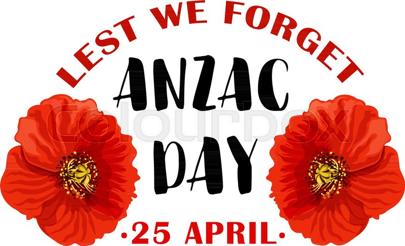 Red poppy flower symbol for anzac day remembrance day of australian red poppy flower symbol for anzac day remembrance day of australian and new zealand army corps or world war soldier campaign anniversary floral card design mightylinksfo