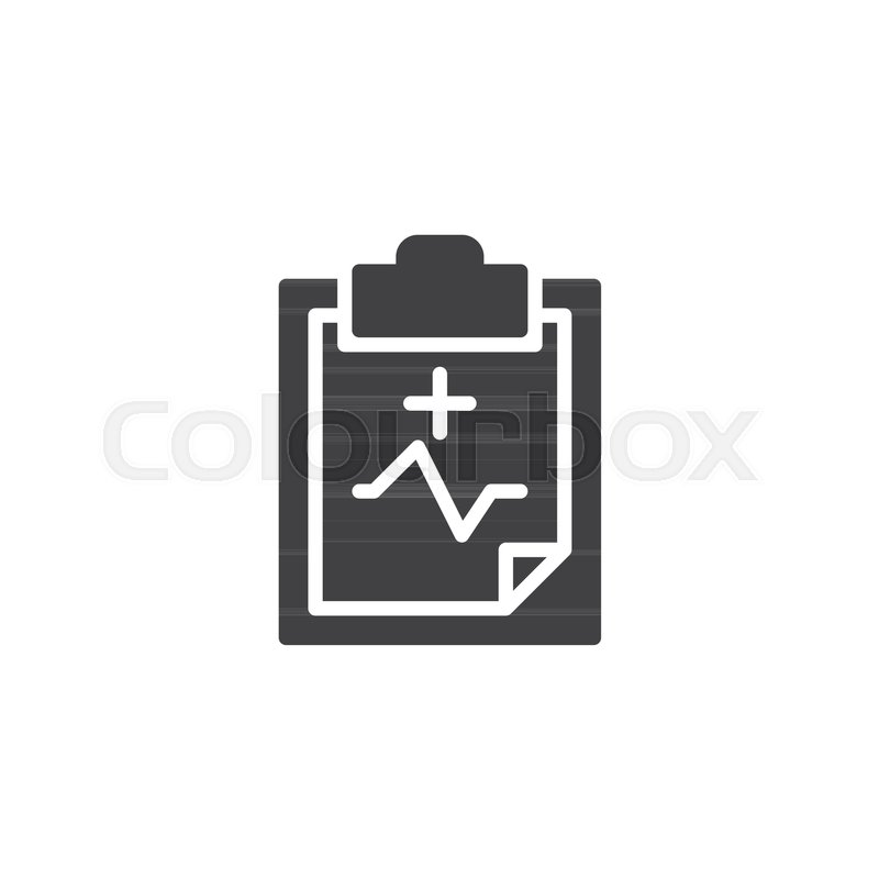 Health Check Icon Vector Filled Flat Sign Solid Pictogram Isolated