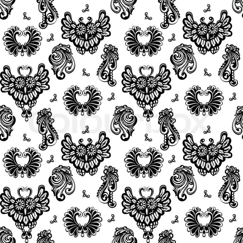 Decorative Cast Metal Model Floral Designs And Owls