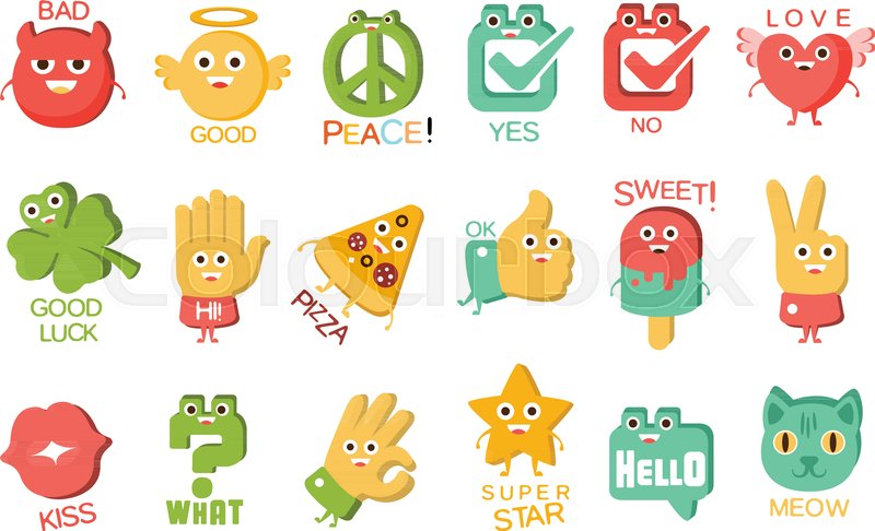 Words And Corresponding Illustrations Cartoon Character Objects