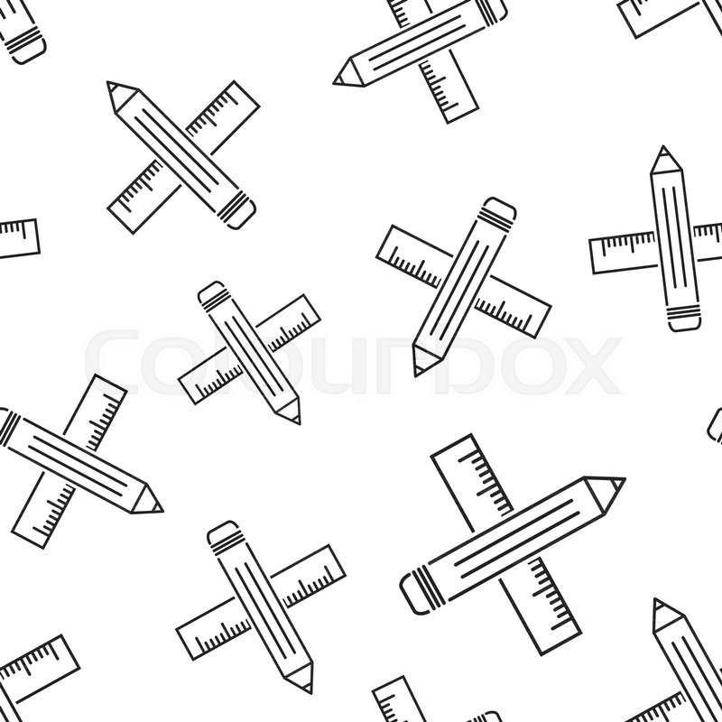 pencil with rule seamless pattern background  business