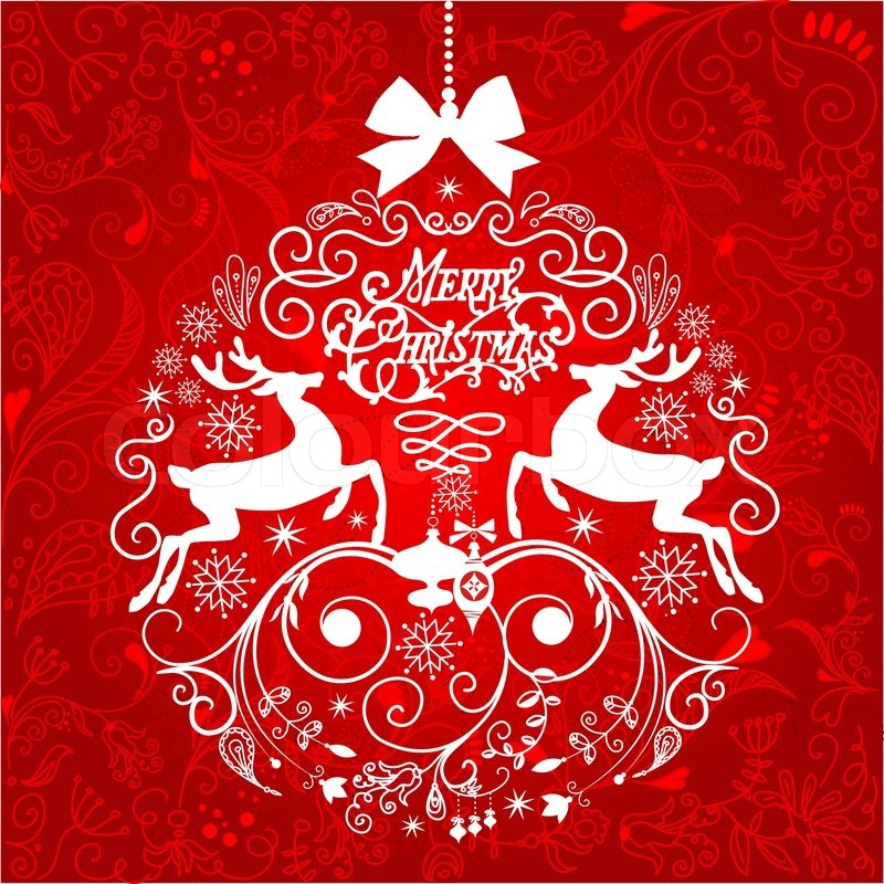 Red and white christmas ball illustration vector colourbox for Christmas red and white