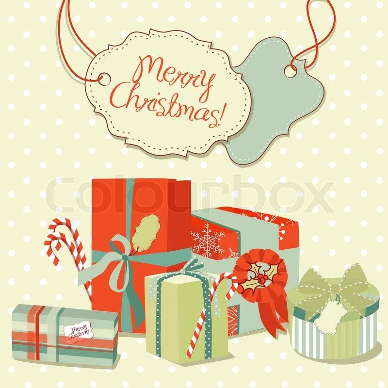 Weihnachtsgeschenke im Retro-Stil Kreative Verpackungen ...