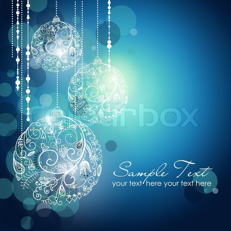 blue christmas background with christmas ornaments stock vector colourbox - Blue Christmas Ornaments