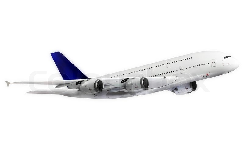 Modern airplane isolated on white background | Stock Photo ...