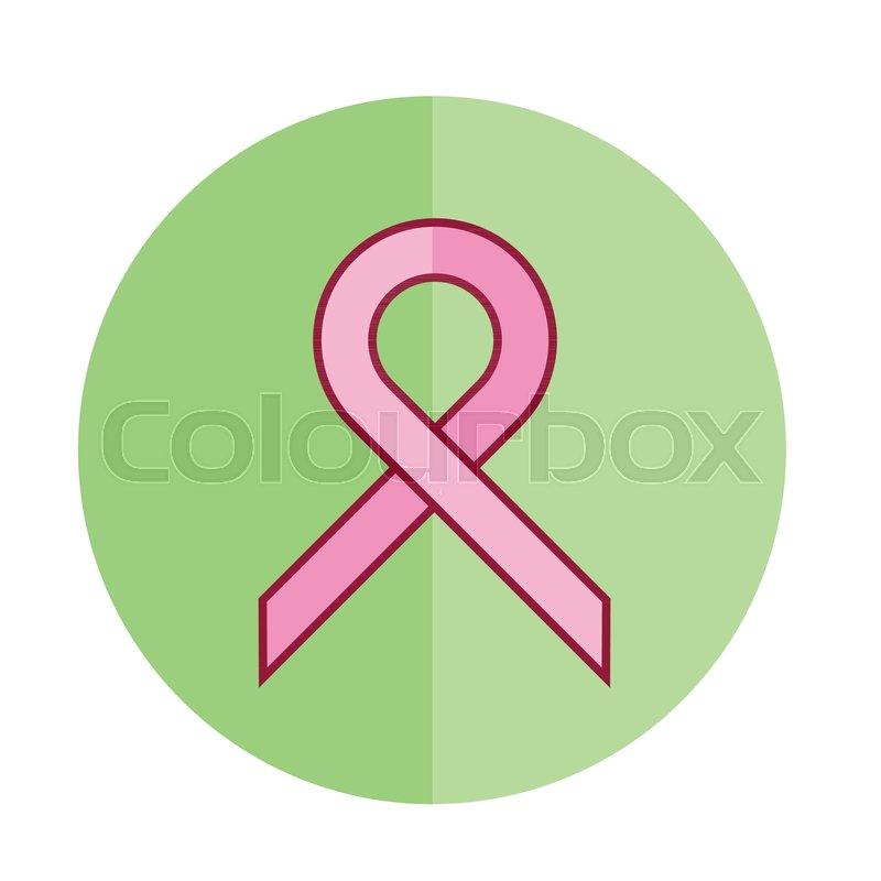 Green Breast Cancer Ribbon Icon Vector Graphic Illustration Design