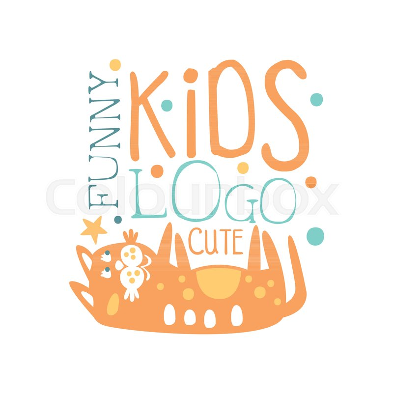 Funny Cute Kids Logo Baby Shop Label Fashion Print For Kids Wear
