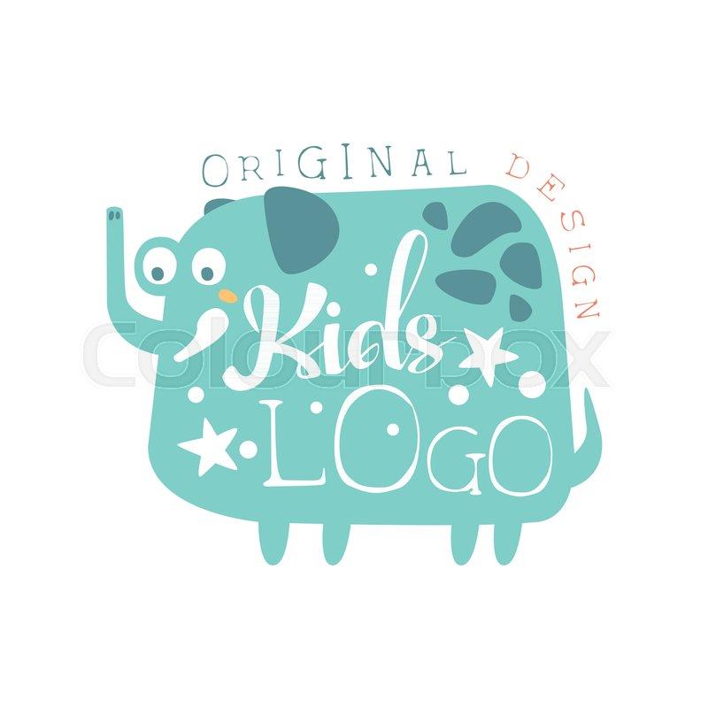Kids Logo Original Design Baby Shop Label Fashion Print For Kids