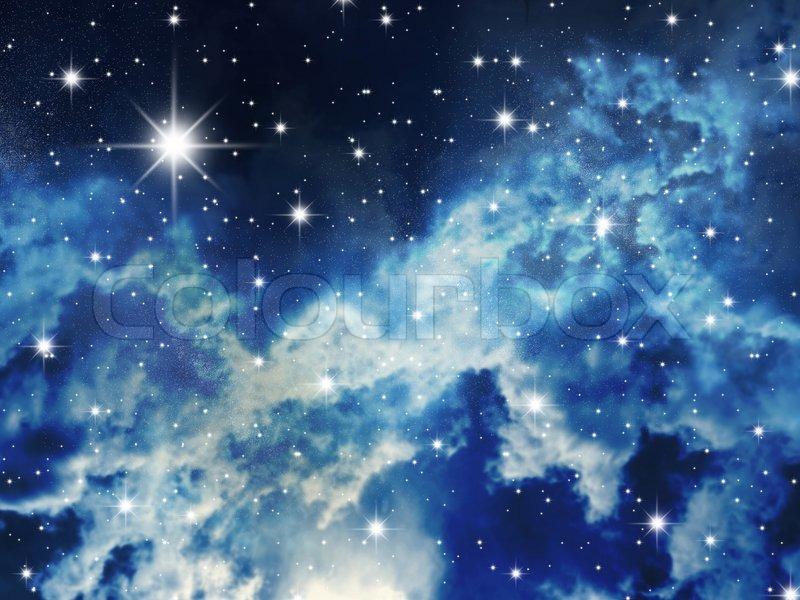 Der gro e sternenhimmel staus auf nacht den himmel for Blue moon mural