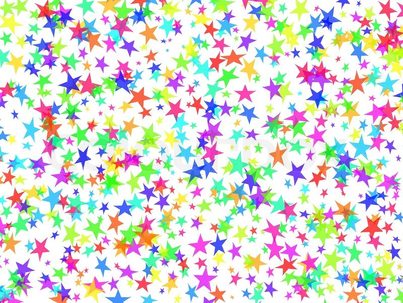stars festive fun glow happy holiday colorful confetti abstract