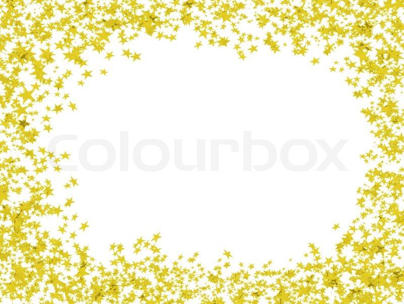 Multi- farbigen Rahmen Sterne in Form von Konfetti ...