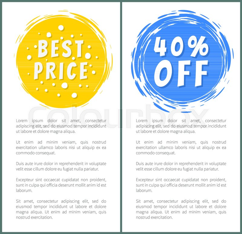 Set of hot sale best price advertising banners, vector illustration ...