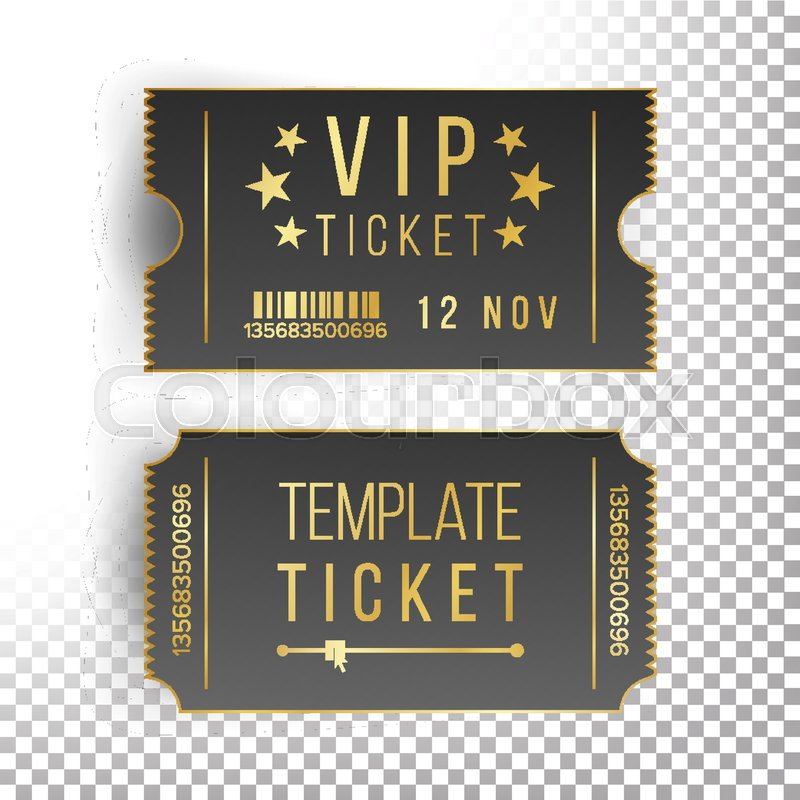 vip ticket template vector empty black tickets and coupons blank