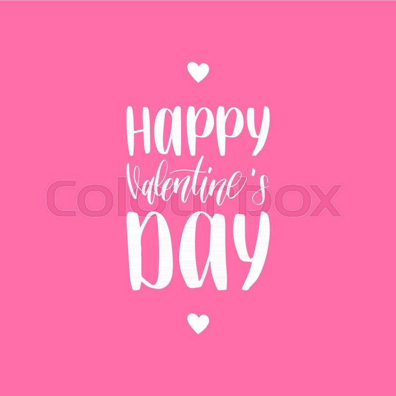 Happy Valentines Day Card Vintage Stock Vector Colourbox