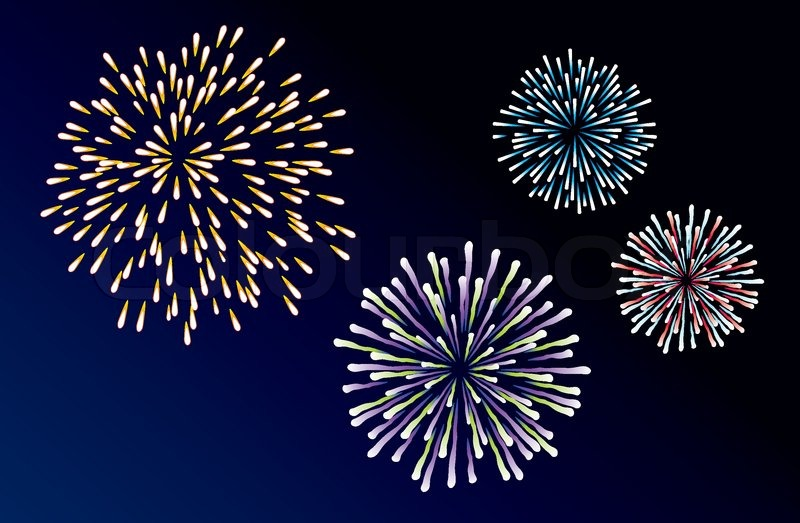 vector background of three types of fireworks stock vector colourbox rh colourbox com American Fireworks vector fireworks silhouette