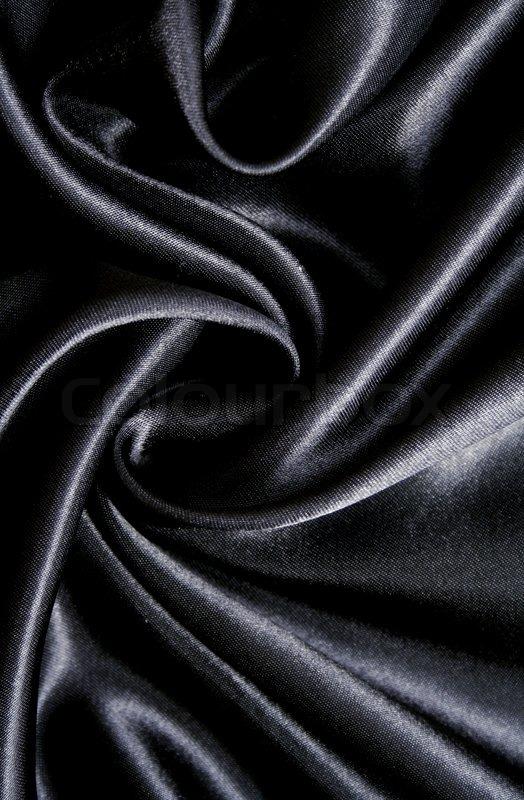 smooth elegant black silk - photo #11