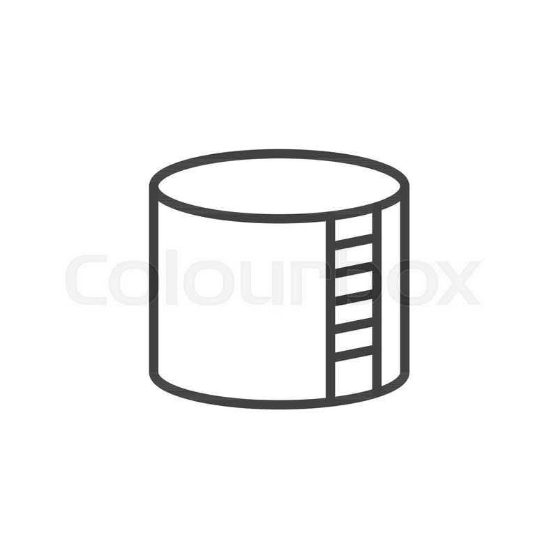 Best Gas Prices >> Storage tank line icon, outline vector sign, linear style pictogram isolated on white. Oil ...