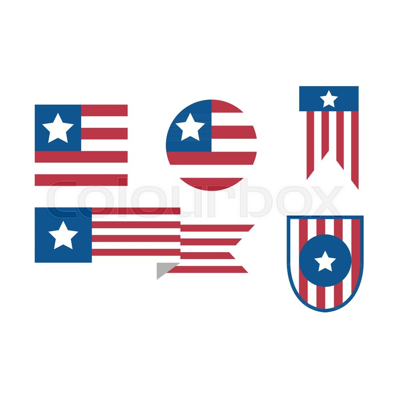 simple usa flag emblem bundle vector illustration graphic design rh colourbox com us flag logo pic us flag logo pic