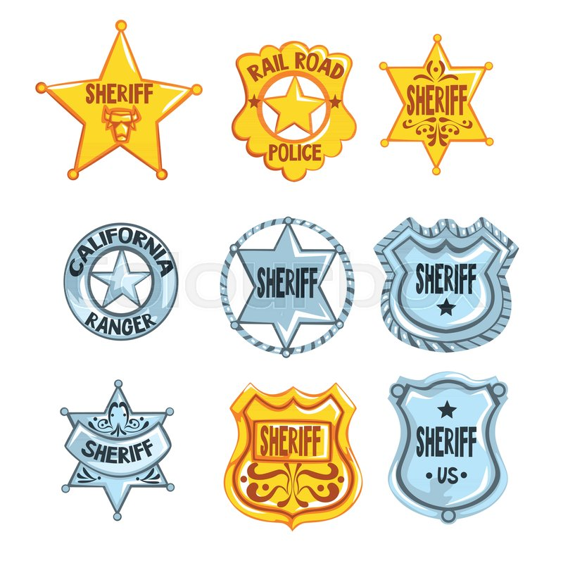 Collection Of Different Sheriff Railroad Police And Rangers Badges