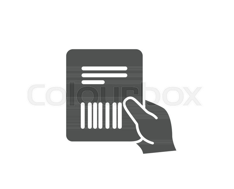 Parcel Invoice Simple Icon Delivery Document Sign Package Shipping