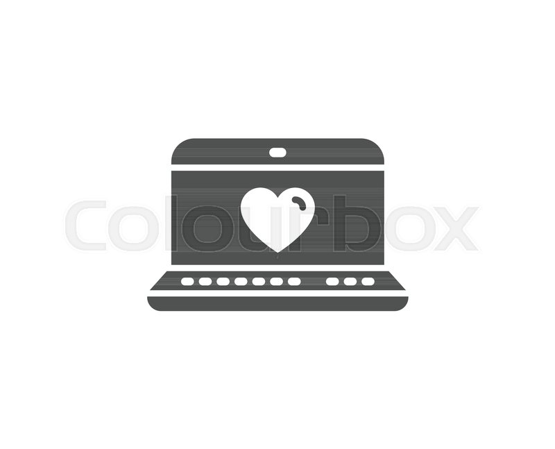 Love Dating Simple Icon Heart In Notebook Sign Valentines Day