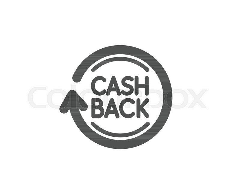 cashback service simple icon money transfer sign rotation arrow