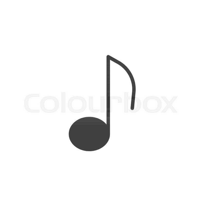 Musical Note Icon Vector Filled Flat Sign Solid Pictogram Isolated