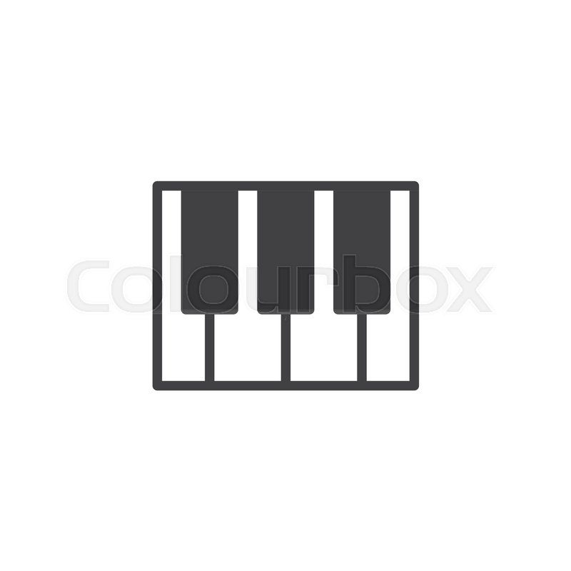 Piano Keys Icon Vector Filled Flat Sign Solid Pictogram Isolated On White Keyboard Music Symbol Logo Illustration Stock Vector Colourbox