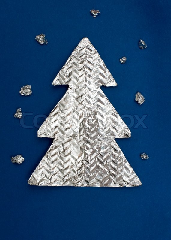 Christmas tree made ??out of foil | Stock Photo | Colourbox