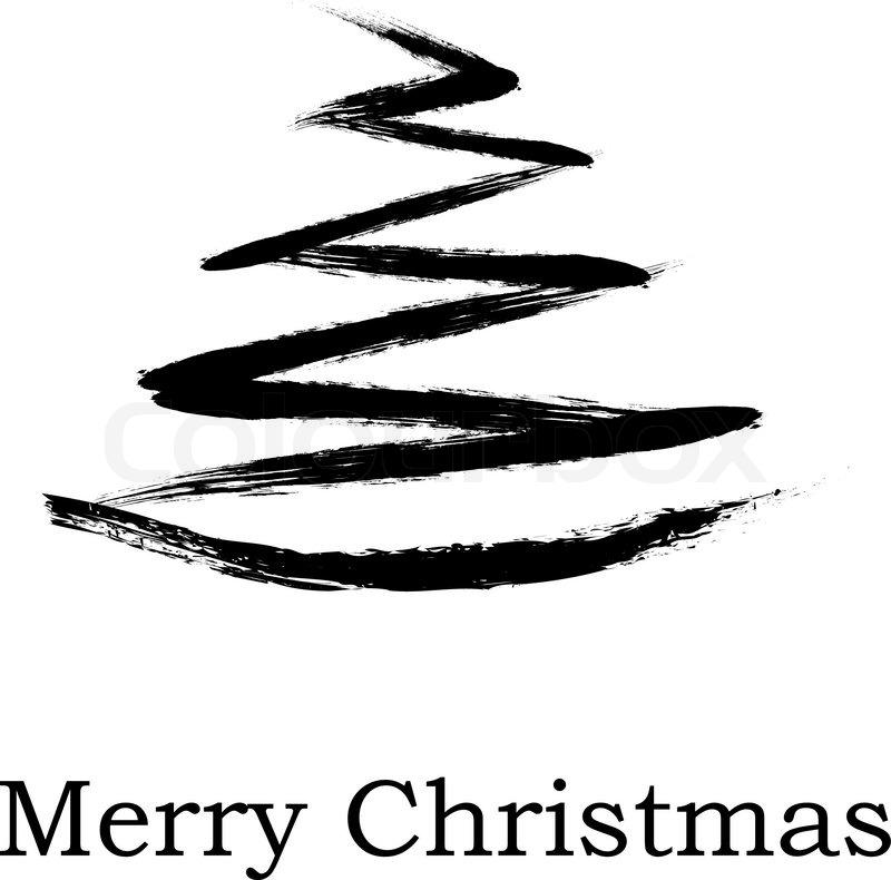 abstrakter weihnachtsbaum auf wei em hintergrund vektor. Black Bedroom Furniture Sets. Home Design Ideas