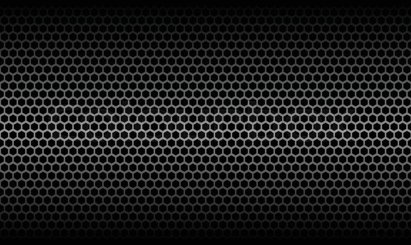 Dark Honeycomb Metallic Carbon Texture ... | Stock Vector ...