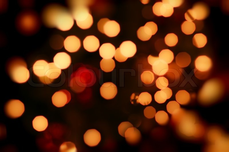 abstract background of christmas orange lights stock photo colourbox