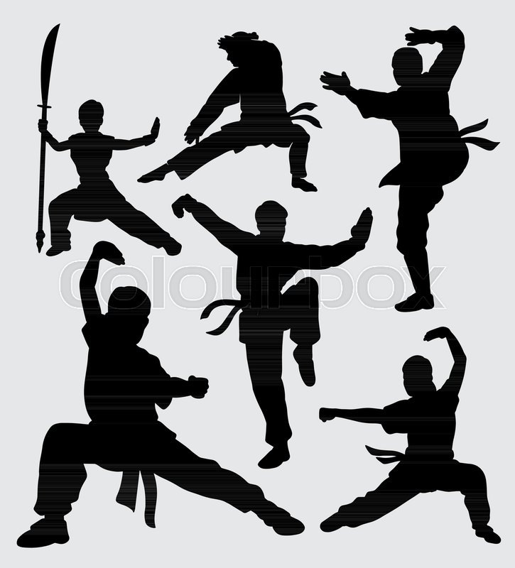 Kung fu martial art training silhouette Good use for ...
