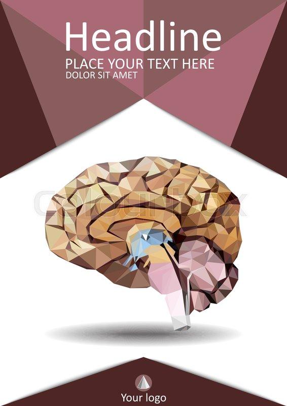 Gehirn, werbung, broschüre | Vektorgrafik | Colourbox