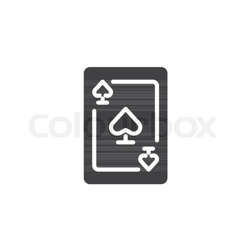 ace of spades icon vector filled flat sign solid pictogram