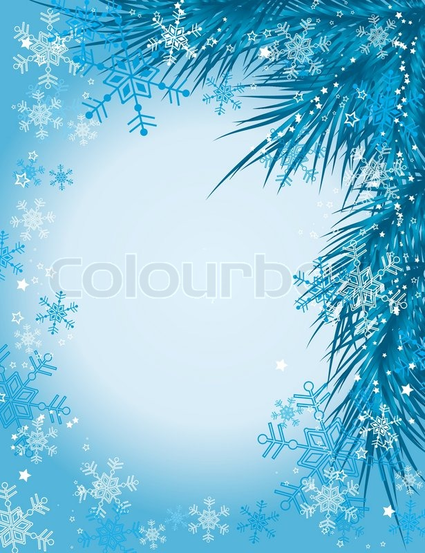 Vector christmas tree with snowflake background valentineblog net