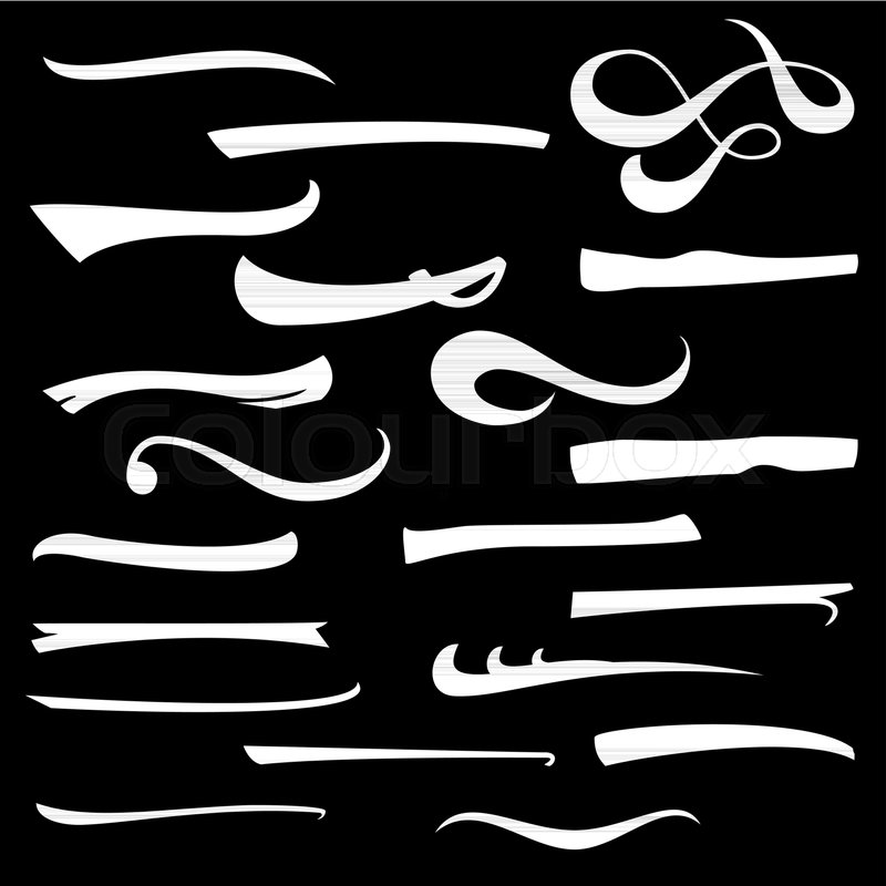 Set Of Hand Lettering Underlines Lines Isolated On White Typographic Design Vintage Elements For Housewarming Posters Greeting Cards Home Decorations