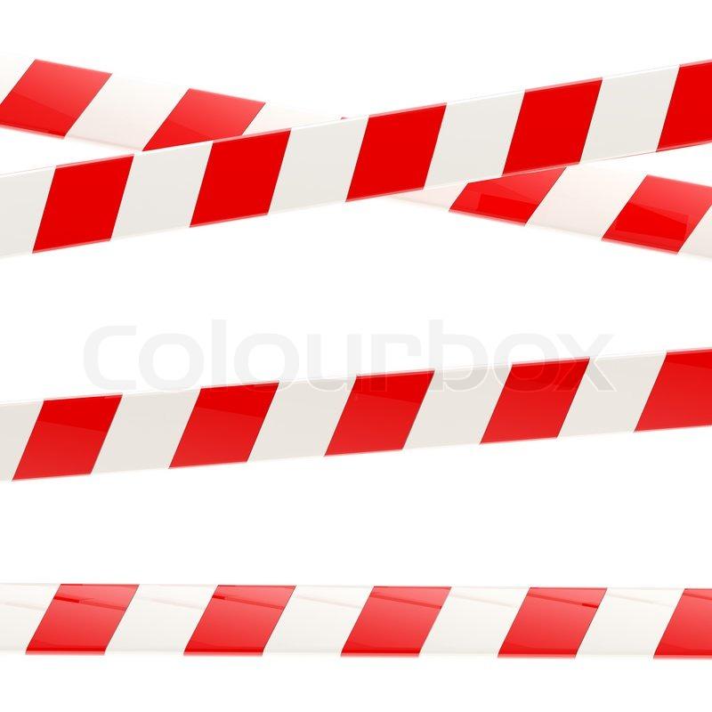 Gut Set von roten und weißen glänzenden Absperrbänder isoliert auf  DH11
