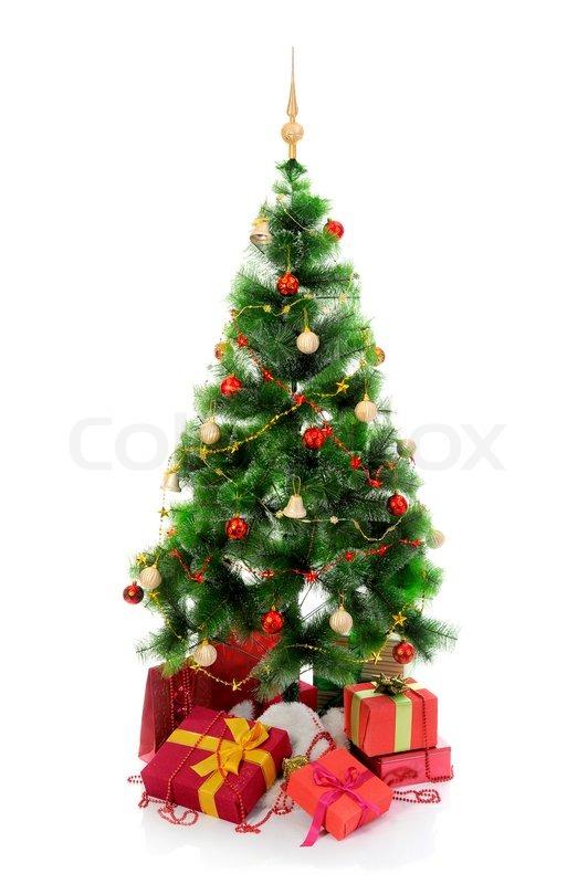 Red Christmas Tree Ribbon