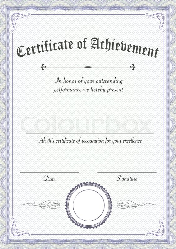 A3 International Paper Size Vertical Classic And Retro Certificate