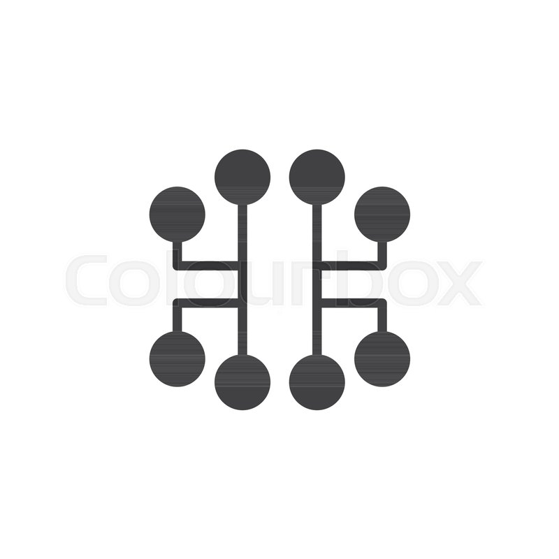 Electronic circuit icon vector, filled flat sign, solid pictogram ...