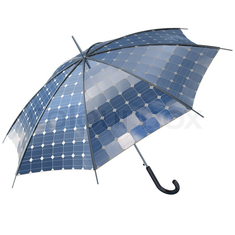 Solar photovoltaic umbrella | Stock Photo