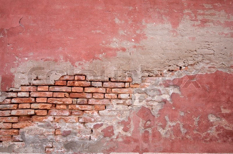 Old Brick Wall And Stucco Stock Photo Colourbox
