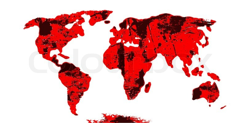 World map continents in grunge style vector stock vector stock vector of world map continents in grunge style vector gumiabroncs Images