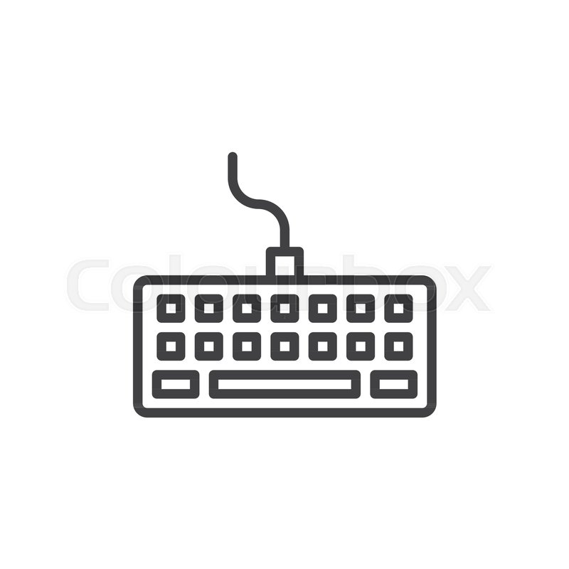 Computer Keyboard Line Icon Outline Vector Sign Linear Style