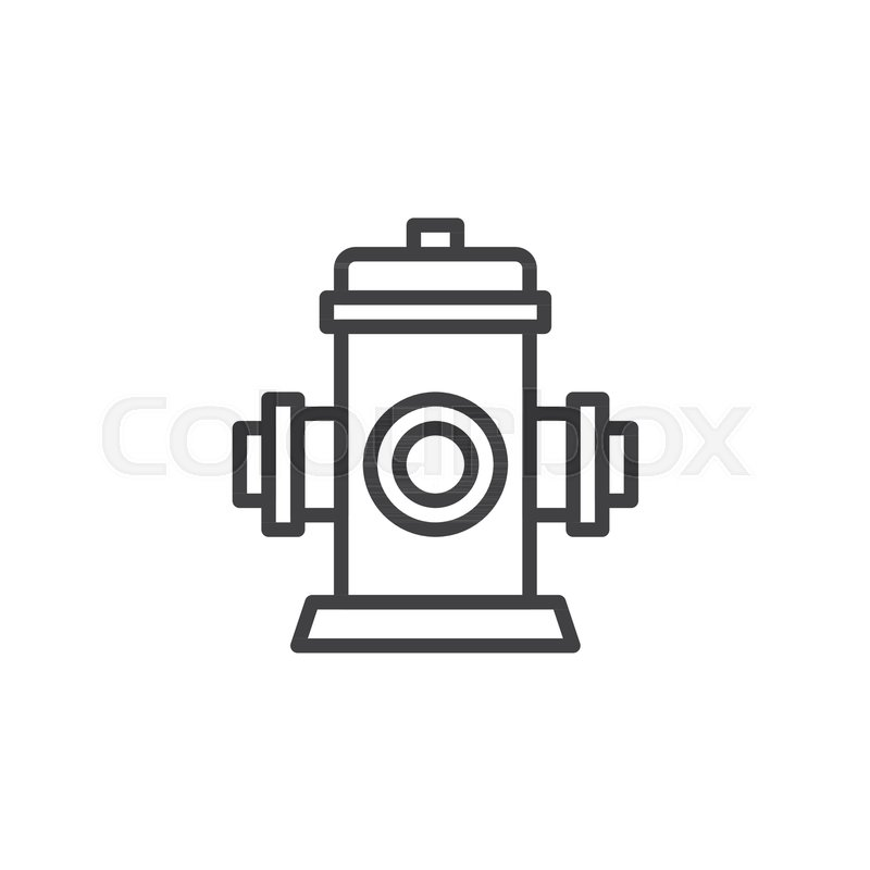 Fire Fighting Hydrant Line Icon Outline Vector Sign Linear Style