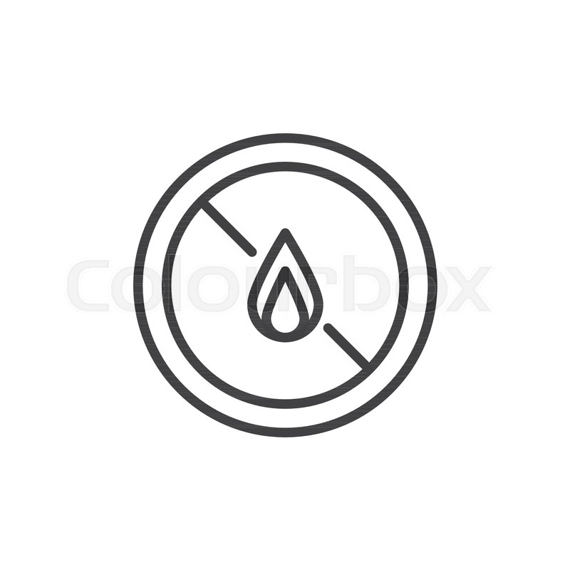 No Expose Flammable Liquids Line Icon Outline Vector Sign Linear