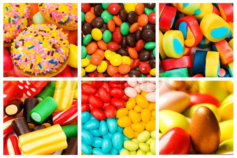 Collage of various sweets | Stock Photo | Colourbox