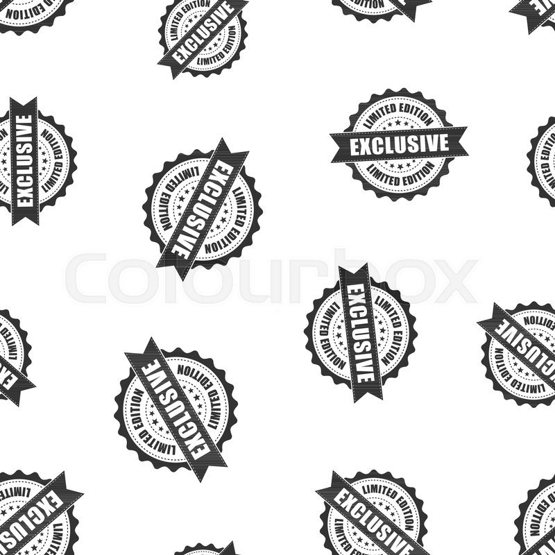 Exclusive Rubber Stamp Seamless Pattern Background Business Concept