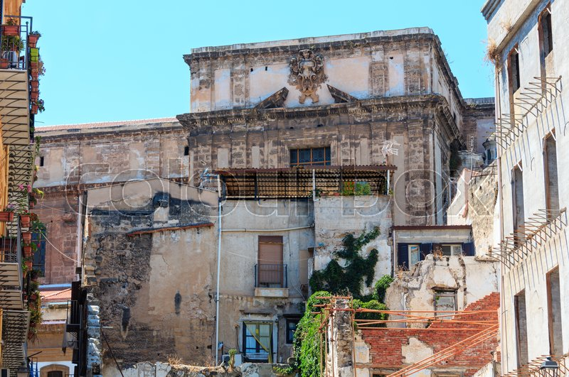 Palermo old town city view, Sicily, ... | Stock image | Colourbox